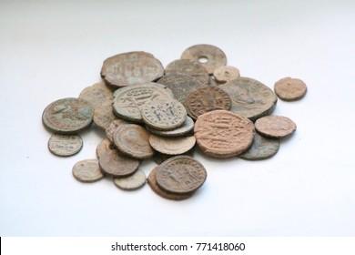 01 December 2017 Konya, Turkey  Antique Money