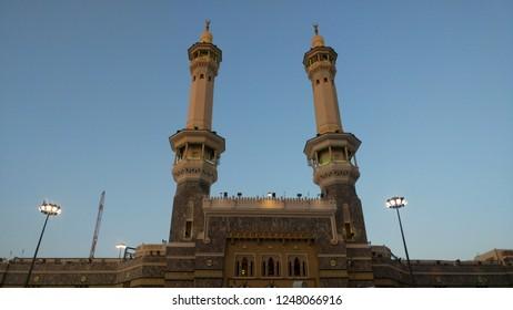01 December 2018; Muslim's mosque architecture (Minaret) in Mekkah, Mecca, Medina,Saudi Arabia.