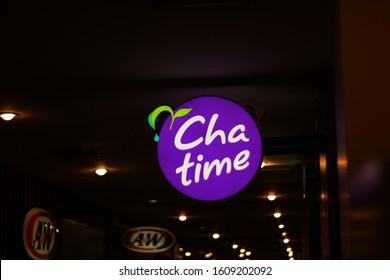 01 January 2020, Medan City, Indonesia- Chatime is aTaiwaneseglobalfranchiseteahouse chainbased inZhubei. Chatime is the largest teahouse franchise in the world