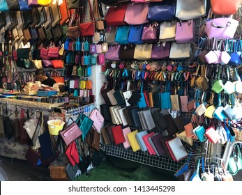 01 June 2019; Bangkok Thailand: Bags and Souvenirs Shop at Chatuchak JJ Weekend Market, The largest market in the world.