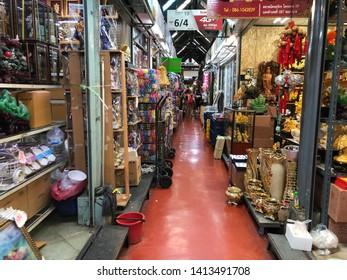 01 June 2019; Bangkok Thailand: Interior of Jatujak JJ Weekend Market, The largest market in the world.