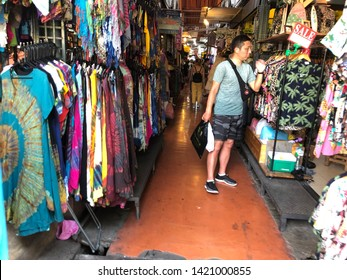 01 June 2019; Bangkok Thailand: People are shopping Clothes Shop at Chatuchak Jatujak JJ Weekend Market, The largest market in the world.