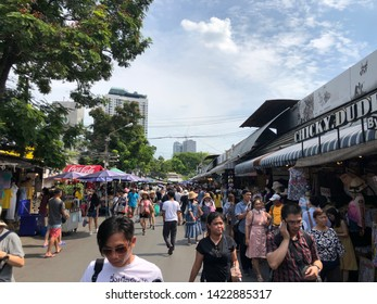 01 June 2019; Bangkok Thailand: People are Shopping at Chatuchak Jatujak JJ Weekend Market, The largest market in the world.