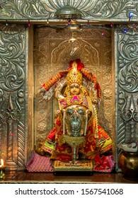 01 Mar 2019 statue of bahudha mataji in Shri Kuldevi Bahudhamataji Devsthan Nayka, Ta. Sami, Dist. Patan, Gujarat, India