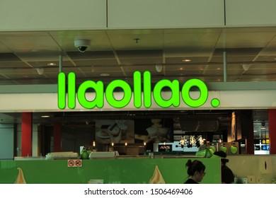 01 September 2019, Changi city, Singapore - llaollao is a Spanishfrozen yogurtfranchisebrand founded inDeniain theprovince of Alicante,Spain.