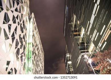 01/04/2019 oslo, oslo, norway view of oslo barcode at night