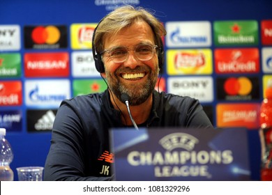01.05.2018. Rome, Italy: Jurgen Klopp during the press conference before the Uefa Champions League match AS Roma vs Liverpool in olympic stadium in Rome.