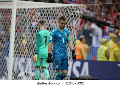 01.07.2018. MOSCOW, Russia: AKINFEEV in action during the Fifa World Cup Russia 2018, Eighths of final football match between SPAIN VS RUSSIA in Luzhniki Stadium in Moscow.
