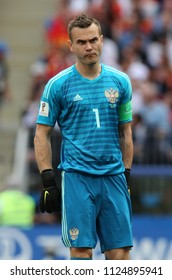 01.07.2018. MOSCOW, Russia:AKINFEEV  in action during the Fifa World Cup Russia 2018, Eighths of final football match between SPAIN VS RUSSIA in Luzhniki Stadium in Moscow.