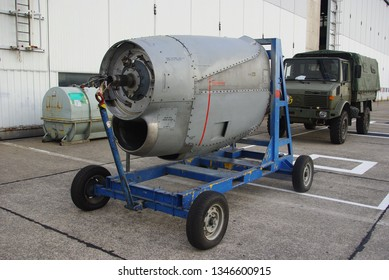 01-09-2018, Brussels airport, Belgium, Engine from a C130 Hercules from the Belgium air force