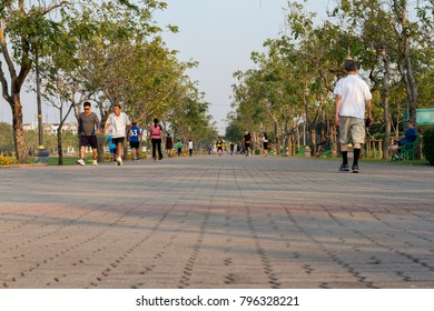 01/13/2018 Suanluang RAMA IX Bangkok Thailand  have the people exercise and relax.