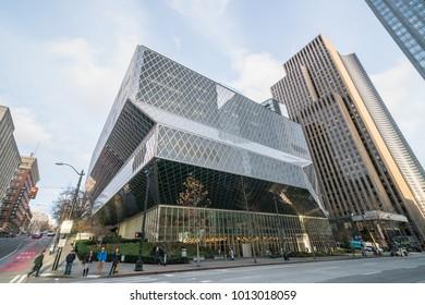 01/22/2018 : View of Seattle public library, Seattle Washington USA