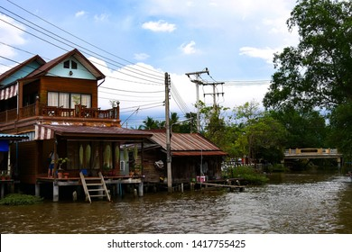 01-May-2019 : Samut Songkharm : Traditional Thai homestay in Maeklong River, Aumphawa floating market, Samut Songkharm, Thailand