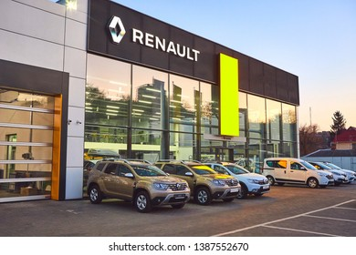 02 of April 2019 - Vinnitsa, Ukraine. Showroom of RENAULT