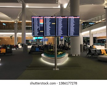 02  May  2019 Istanbul-Turkey: Istanbul  Airport ( New Airport) domestic passenger lounge