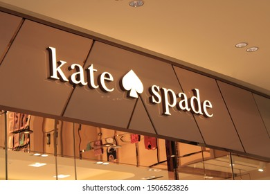 02 September 2019, Changi city, Singapore- Kate Spade New York is an American luxury fashion design house founded in January 1993 by Kate and Andy Spade. Jack Spade is the brand's line for men