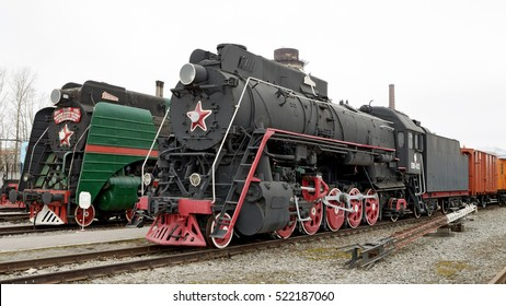 02.04.2016.Russia.Saint-Petersburg.Rail transport is in the Museum of the city of St. Petersburg.