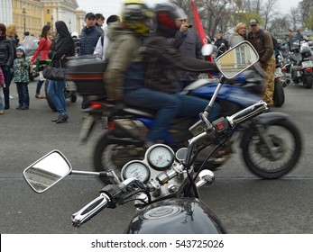 02.05.2015.Russia.Saint-Petersburg.Bikers gathered at the festival to show their motorcycles.