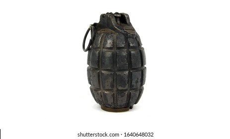 02.07.20 - Lancashire, UK - WW1 British No.5 Grenade, commonly called the Mills Bomb after the designer. This was introduced in late 1915, this example is dated January 1916.