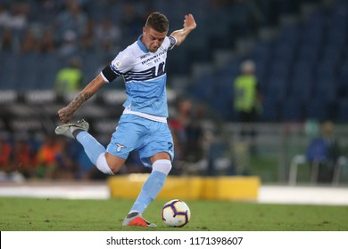 02.09.2018. Stadio Olimpico, Rome, Italy. SERIE A: SERGEJ MILINKOVIC-SAVIC in action during the ITALIAN SERIE A match between S.S LAZIO v FROSINONE CALCIO at Stadio Olimpico in Rome.