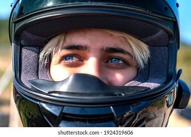 02,24,2021,Izmir,Turkey,a motorcycle rider wearing a helmet