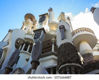 03 April, 2018. Dominican Republic. Castillo  mundo king. Castle museum in Sosua on the North coast of the Dominican republic.