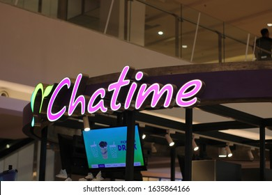 03 February 2020, Medan City, Indonesia- Chatime is a Taiwaneseglobal franchise teahouse chain based in Zhubei. Chatime is the largest teahouse franchise in the world