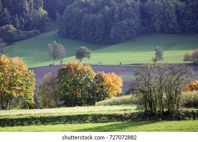 03 October, 2017 Coburg, Germany. Beautiful sunshine on Franconian hills as Germany celebrates reunification on a public holiday