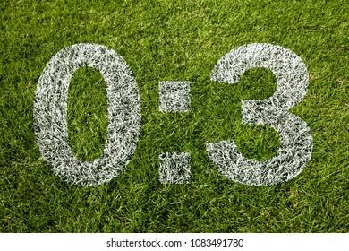 0:3 scoring on soccer meadow