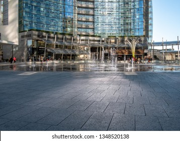 03/05/2019, Milan, Italy: Gae Aulenti square in the new business district of the city.