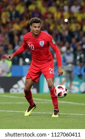 03.07.2018. MOSCOW, Russia: DELE ALLI in action during the Round-16 Fifa World Cup Russia 2018 football match between COLOMBIA VS ENGLAND in Spartak Stadium.