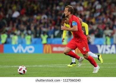 03.07.2018. MOSCOW, Russia: HARRY KANE in action during the Round-16 Fifa World Cup Russia 2018 football match between COLOMBIA VS ENGLAND in Spartak Stadium.
