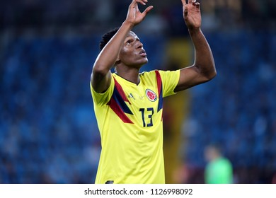 03.07.2018. MOSCOW, Russia: YERRY MINA SCORE THE GOL AT LAST MINUT in  the Round-16 Fifa World Cup Russia 2018 football match between COLOMBIA VS ENGLAND in Spartak Stadium.