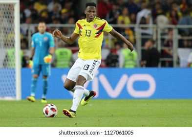 03.07.2018. MOSCOW, Russia: YERRY MINA in action during the Round-16 Fifa World Cup Russia 2018 football match between COLOMBIA VS ENGLAND in Spartak Stadium.