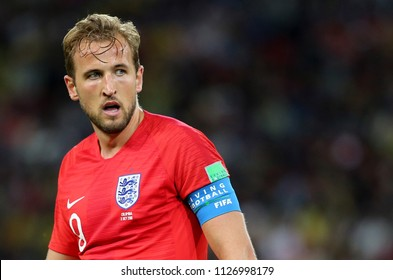03.07.2018. MOSCOW, Russia:HARRY KANE  in action during the Round-16 Fifa World Cup Russia 2018 football match between COLOMBIA VS ENGLAND in Spartak Stadium.
