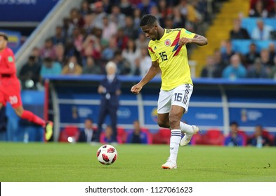 03.07.2018. MOSCOW, Russia:JEFFERSON LERMA  in action during the Round-16 Fifa World Cup Russia 2018 football match between COLOMBIA VS ENGLAND in Spartak Stadium.