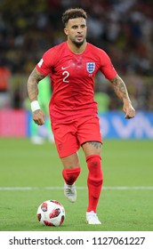 03.07.2018. MOSCOW, Russia:KYLE WALKER  in action during the Round-16 Fifa World Cup Russia 2018 football match between COLOMBIA VS ENGLAND in Spartak Stadium.
