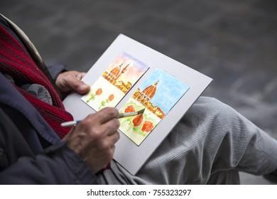 03.11.2017 Street Painter at Florance