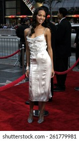 "03/13/2005 - Hollywood - Zoe Saldana at the ""Guess Who"" Premiere at the Graumann's Chinese Theatre."