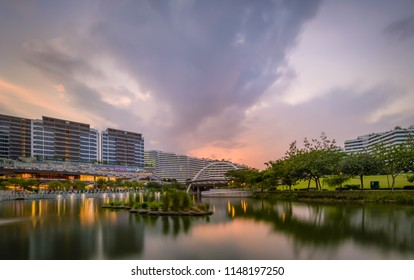 03/19/2017 Punggol Skyline in short pink moment, Singapore