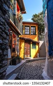 03.24.2019,Balat,Istanbul,Turkey,Historic streets of Balat