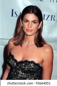 03DEC97:  Supermodel CINDY CRAWFORD at the Fire & Ice Ball at Paramount Studios, Hollywood, to benefit the Revlon/UCLA Women's Cancer Research Program.