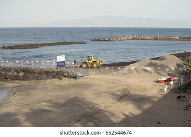 03-June 2017. Environment of beach in the South of the island of Tenerife in the Canary Islands in Spain
