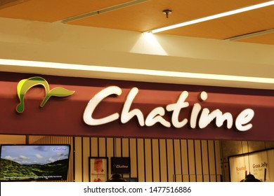 04 August 2019, Medan City, Indonesia- Chatime is aTaiwaneseglobalfranchiseteahouse chainbased inZhubei. Chatime is the largest teahouse franchise in the world