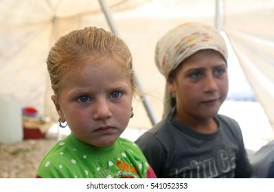 04 june 2013, malatya,tukey. refugee kids in a refugee camp in Malatya, eastern Turkish city Malatya.