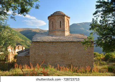 04 October 2017, Gumushane - TURKEY: imera monastery is one of the oldest settlements in Olucak Village. It is understood from the book in imera monastery that it was made in 1350