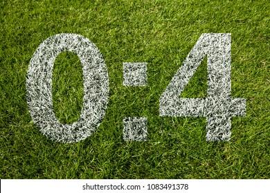 0:4 scoring on soccer meadow