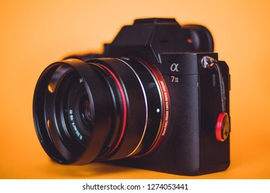 04-01-2019, Riga, Latvia: Sony A7III with Samyang 35mm F/2.8 lens for editorial use.