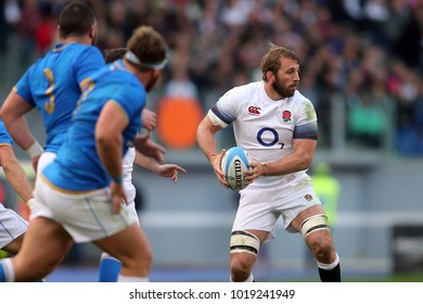 04.02.2018. Stadio Olimpico, Rome, Italy. Rbs Six Nations 2018. Italy versus England.Chris Robshaw  in action during the match Italy versus England at Stadio Olimpico in Rome.