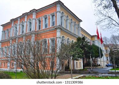 04/03/2011- Besiktas, Istanbul, Turkey. Besiktas High School (Turkish: Anadolu Lisesi).